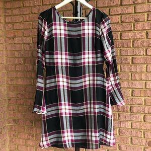 Ann Taylor LOFT Colorful Square Print Lace Dress